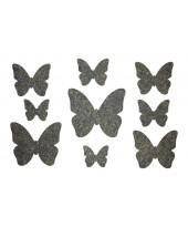 Декор из жидких обоев (Бабочки №3) - набор 9шт