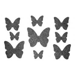 Декор из жидких обоев (Бабочки №4) - набор 9шт