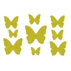 Декор из жидких обоев (Бабочки №5) - набор 9шт