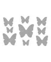 Декор из жидких обоев (Бабочки №6) - набор 9шт