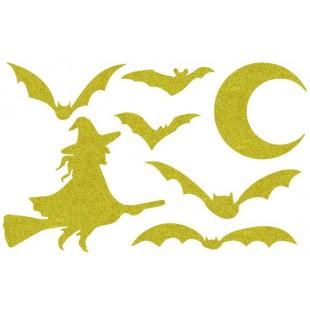 Декор из жидких обоев (Хеллоуин №5) - набор 7шт