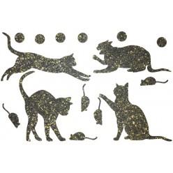 Декор из жидких обоев (Кошки №1) - набор 16шт