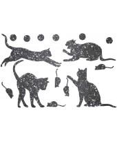 Декор из жидких обоев (Кошки №2) - набор 16шт