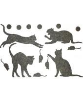Декор из жидких обоев (Кошки №3) - набор 16шт