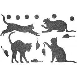 Декор из жидких обоев (Кошки №4) - набор 16шт
