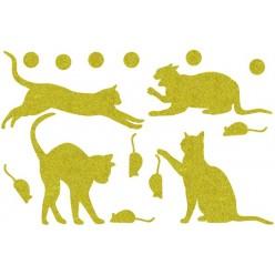 Декор из жидких обоев (Кошки №5) - набор 16шт