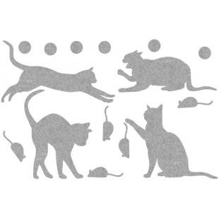 Декор из жидких обоев (Кошки №6) - набор 16шт