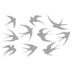 Декор из жидких обоев (Ласточки №6) - набор 10шт