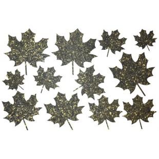 Декор из жидких обоев (Листья №1) - набор 12шт