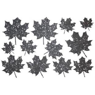 Декор из жидких обоев (Листья №2) - набор 12шт