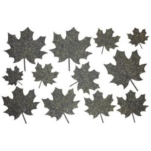 Декор из жидких обоев (Листья №3) - набор 12шт
