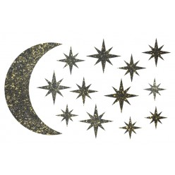 Декор из жидких обоев (Звездное небо №1) - набор 13шт