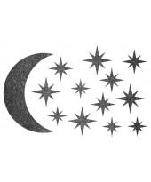 Декор из жидких обоев (Звездное небо №4) - набор 13шт