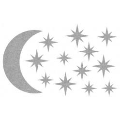 Декор из жидких обоев (Звездное небо №6) - набор 13шт
